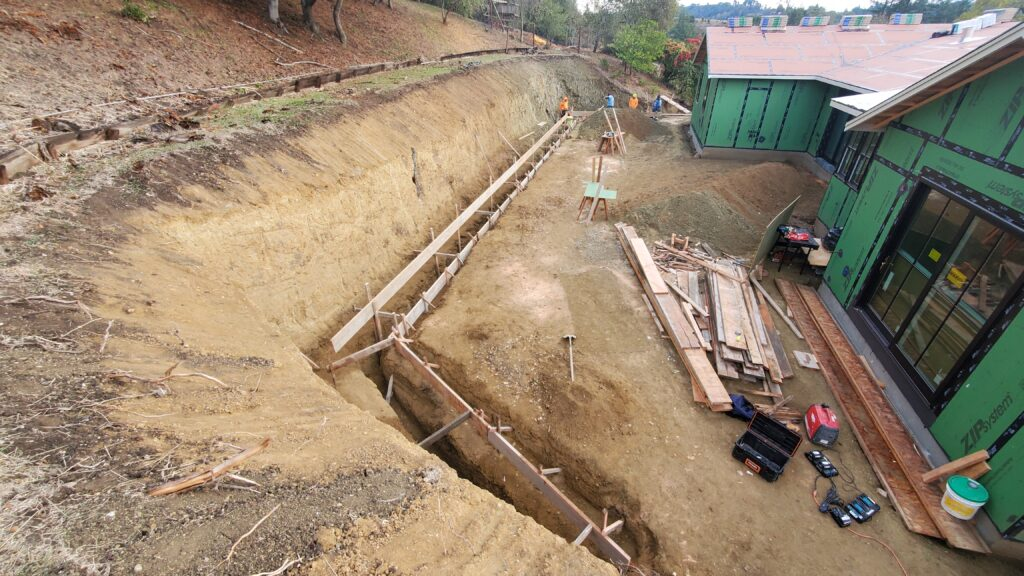 How to frame a concrete footing Bay area