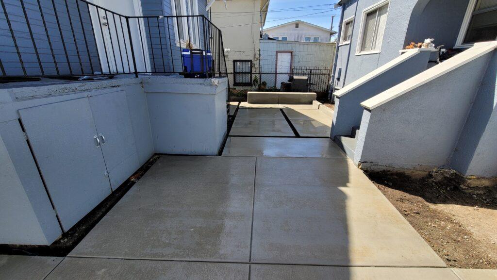 Broom finish concrete patio oakland