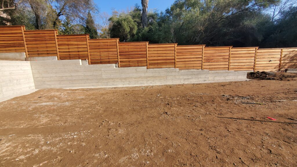 Fair Oaks concrete retaining wall projects