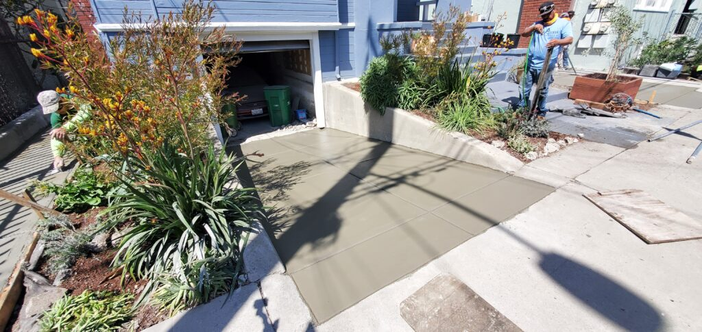 How to install a concrete broom finish driveway
