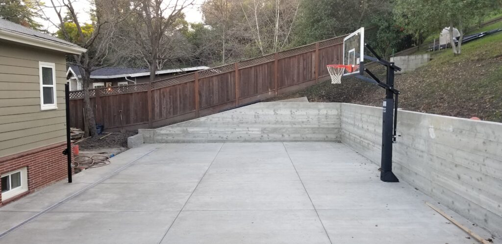 Concrete Board Form Retaining wall