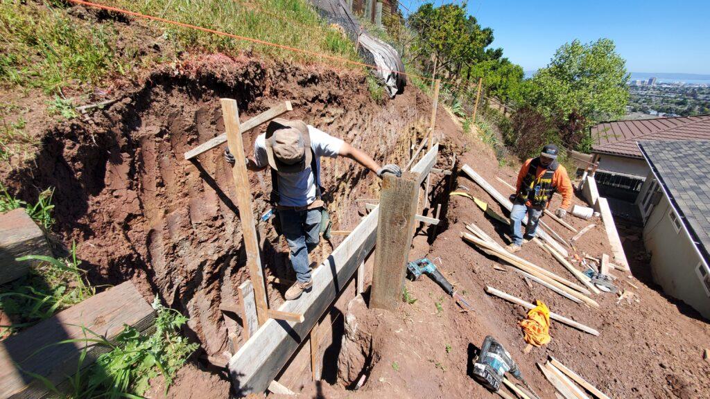 Belmont Retaining wall footing