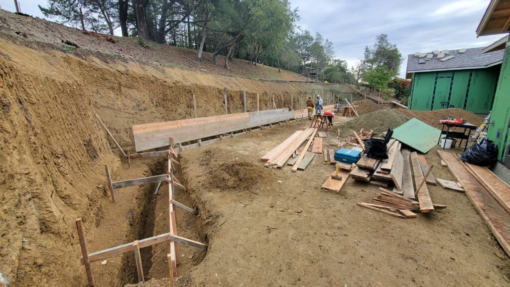 How to frame a concrete retaining wall bay area