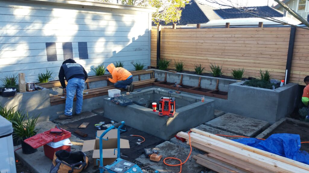 How to build concrete benches