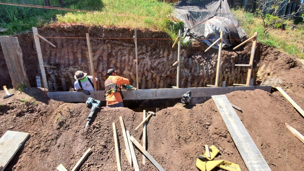 . Belmont Retaining Wall Construction