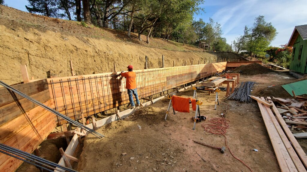 How to install rebar for concrete wall