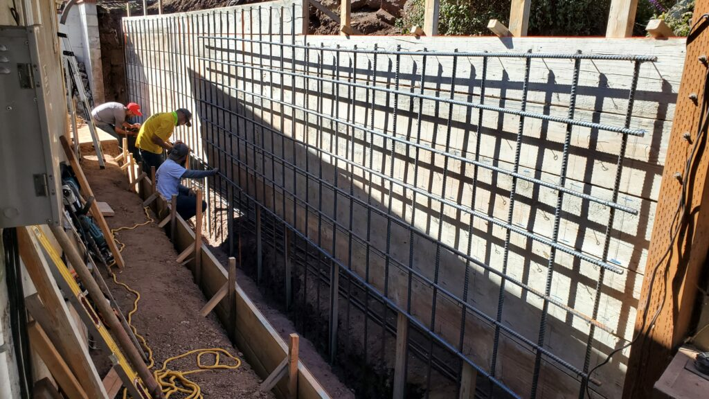 How to install rebar concrete wall