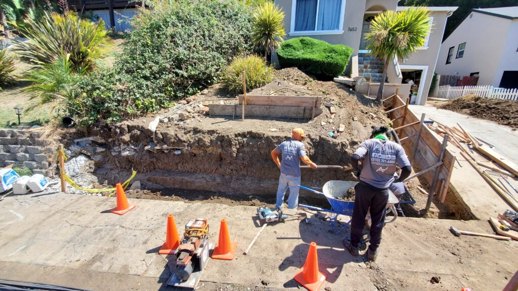 How To build Concrete retaining Wall Oakland Ca