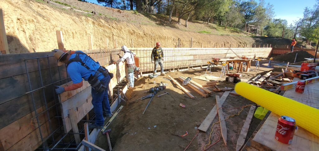 How to build a concrete wall start to finish