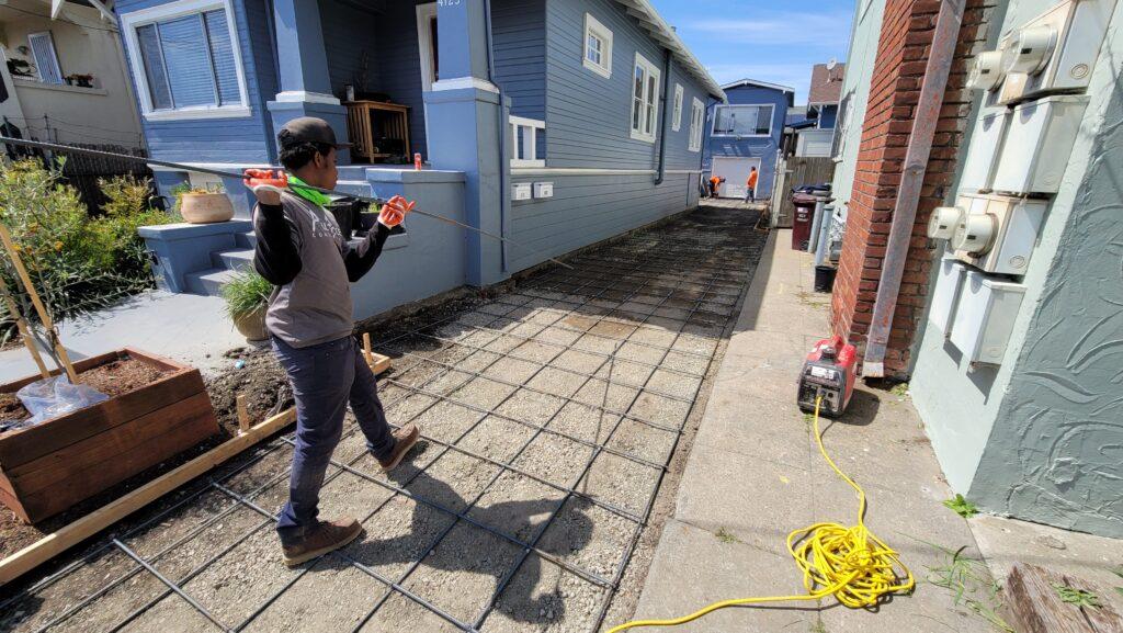 Rebar for Concrete Driveway Oakland