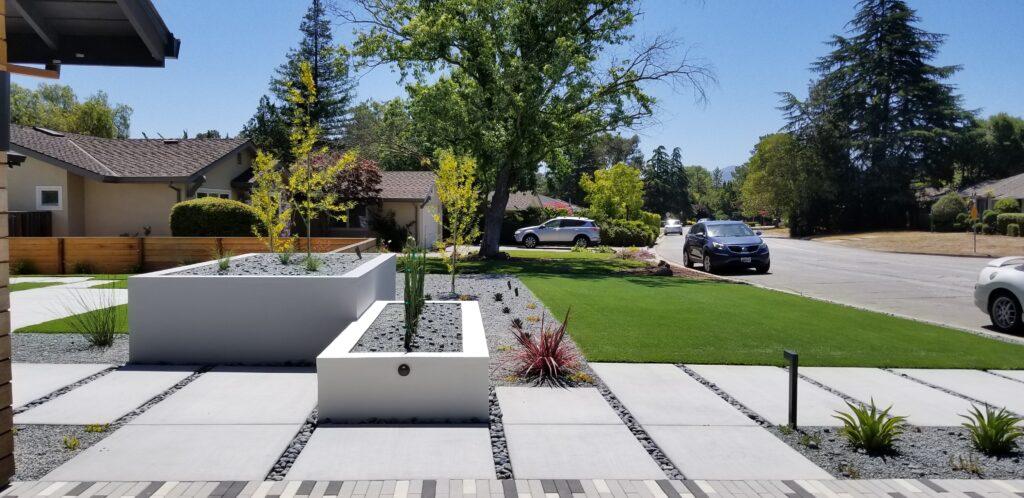 Concrete planter for modern landscape
