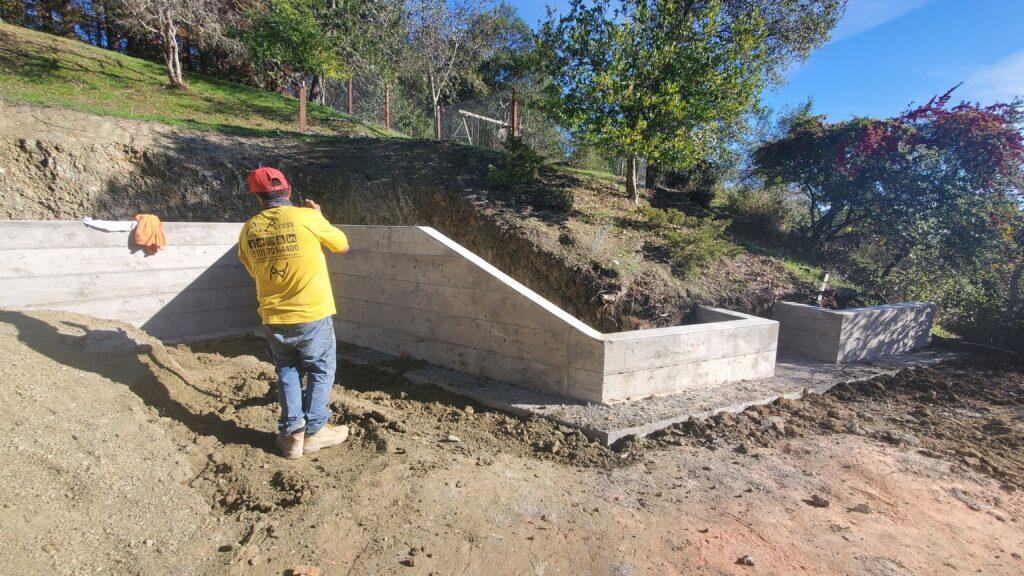 Concrete wall board finish