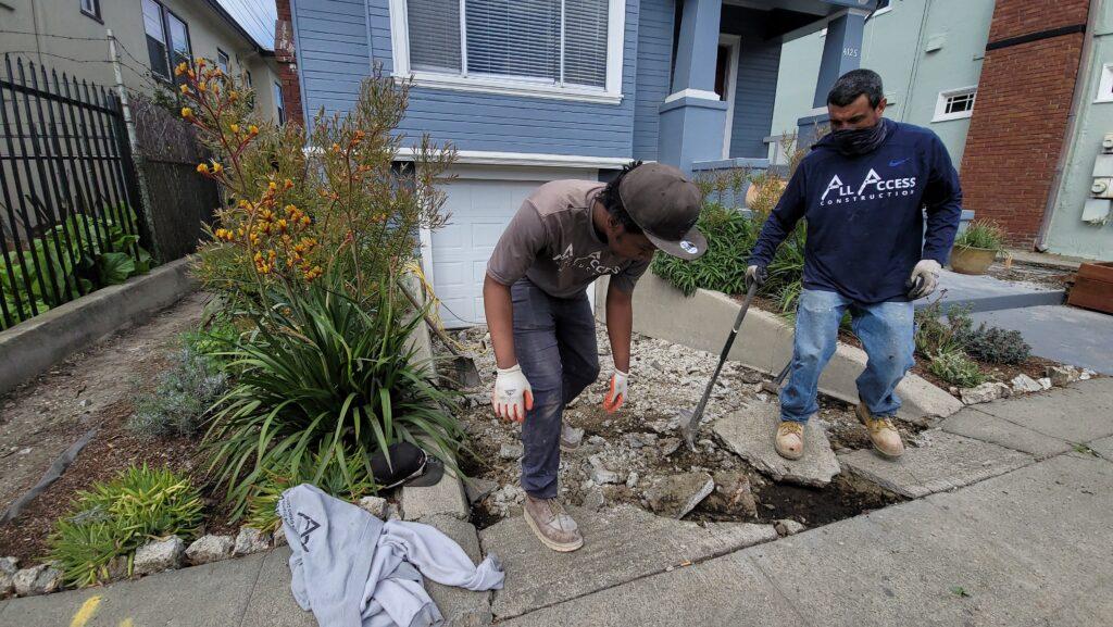 West Oakland Concrete Driveway