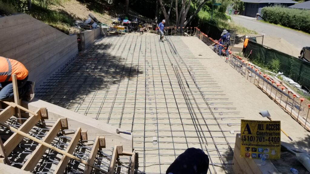 How to install rebar for concrete patio