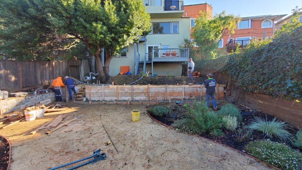 How To Pour A Concrete Retaining Wall Berkeley CA