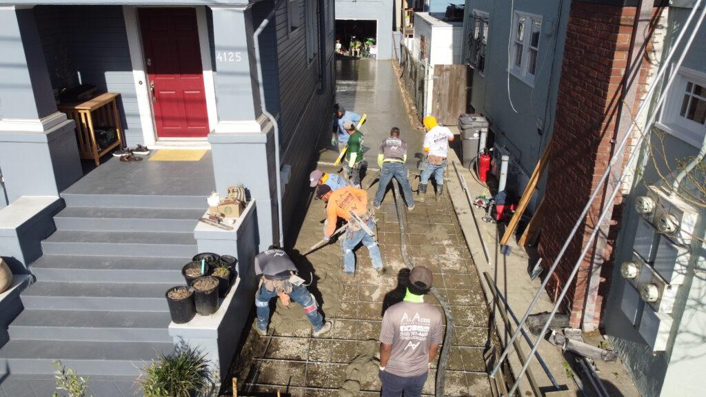 Concrete Pour using Mavric Mini Drone Oakland