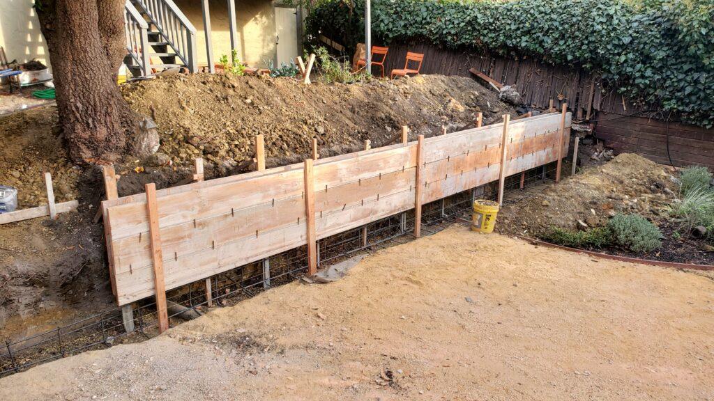 How To Form A Concrete Wall Berkeley