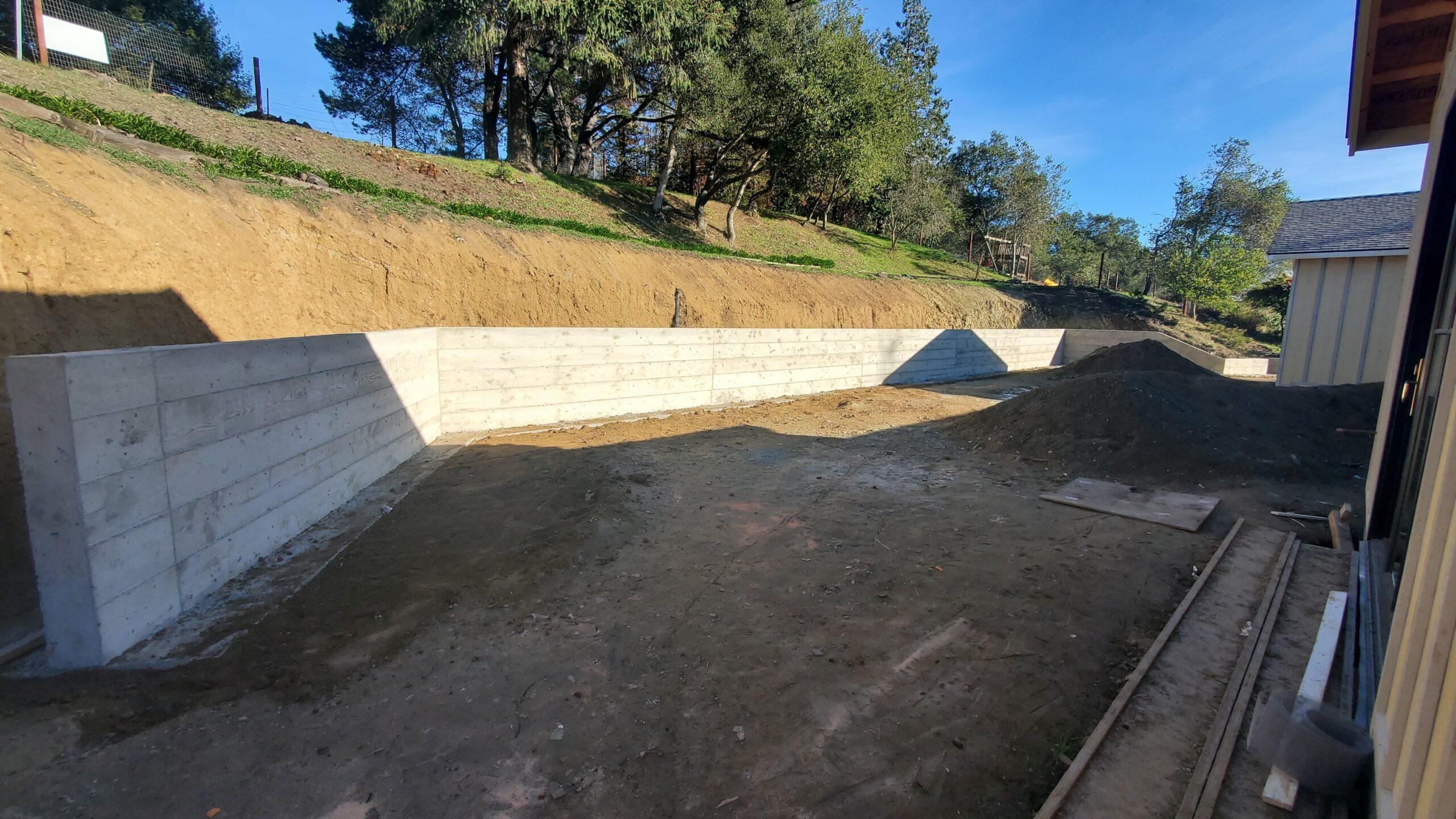 Orinda Concrete Retaining Wall – All Access Construction