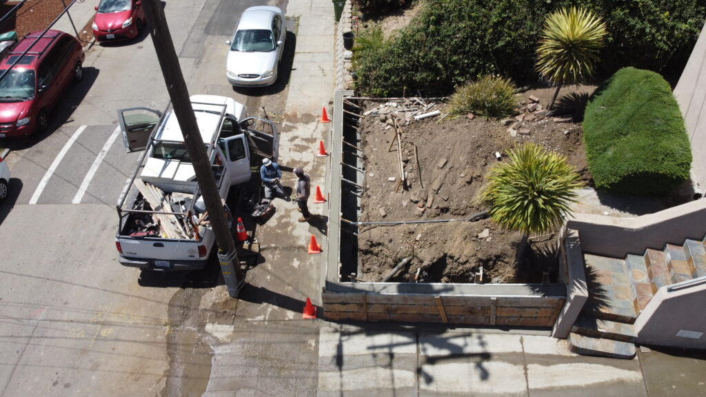 How to pour a concrete wall Oakland