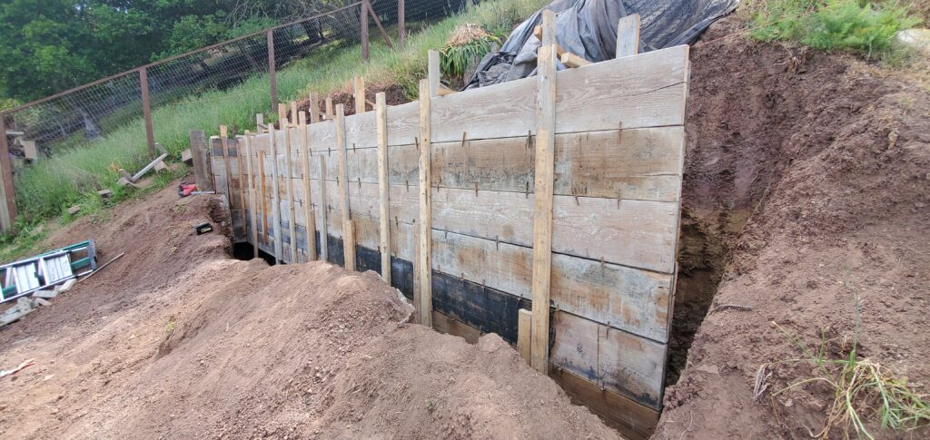 How to frame a retaining wall Belmont