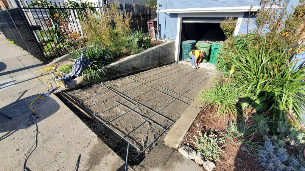 Rebar for Concrete driveway Oakland Ca