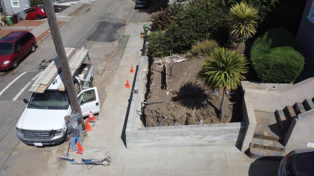 8. Board Finish Concrete Retaining Wall Oakland CA