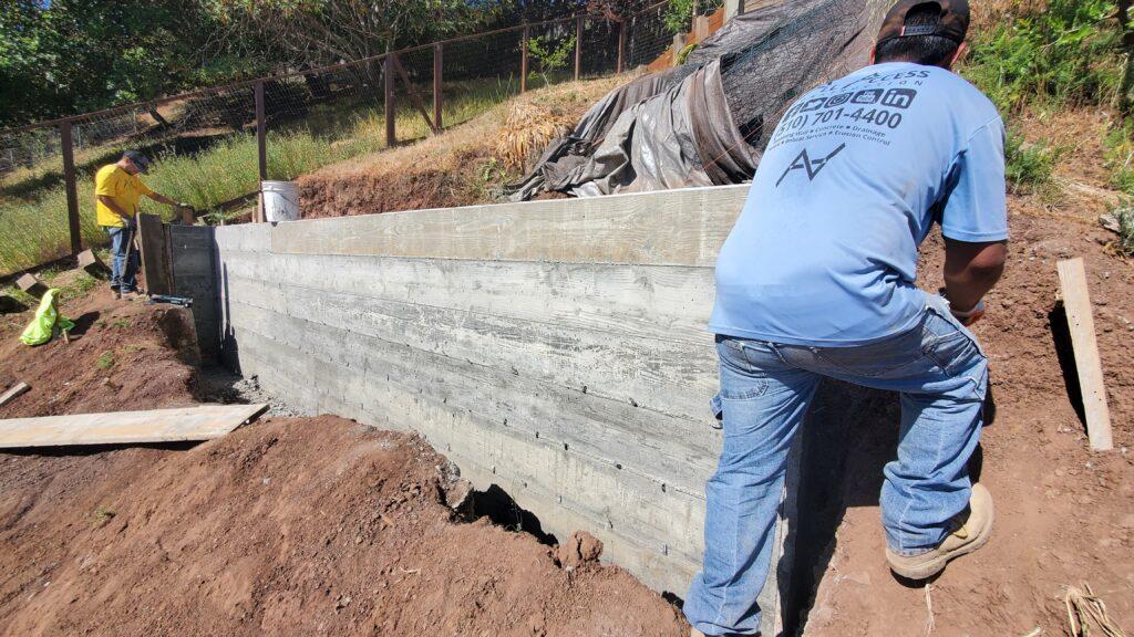 Belmont board finish concrete wall