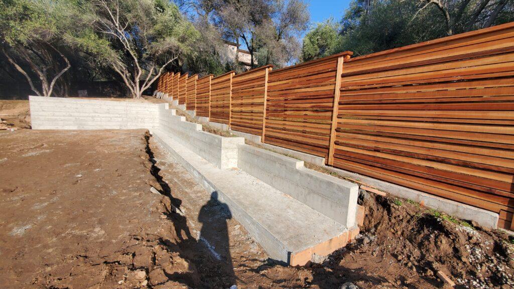 Concrete retaining wall fair oaks CA All Access 510-701-4400