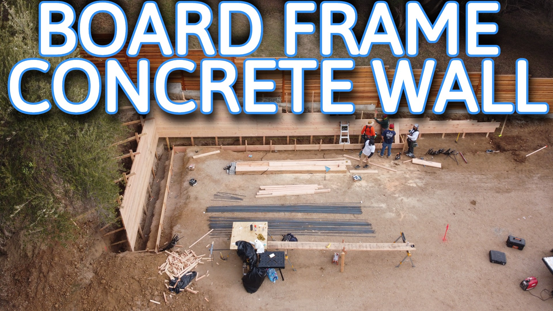 HOW TO FRAME BOARD CONCRETE WALL