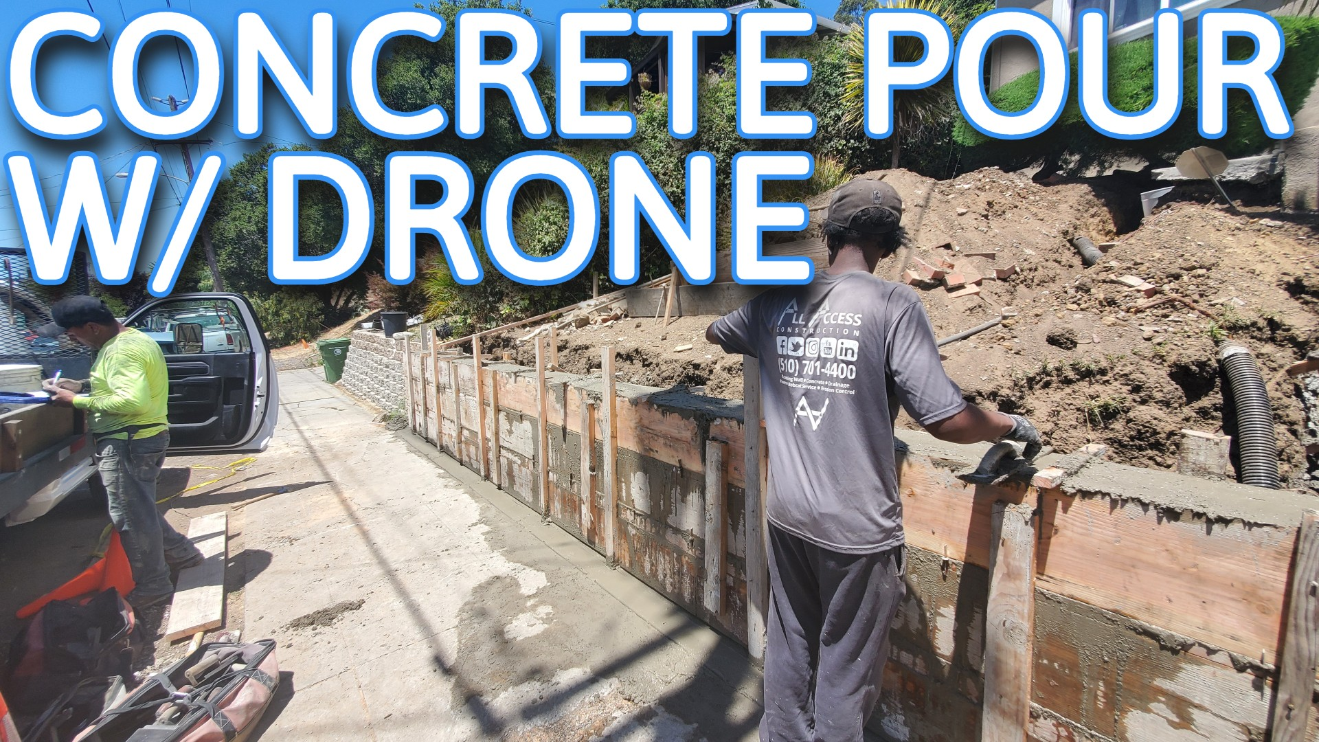 HOW TO POUR CONCRET WALL OAKLAND