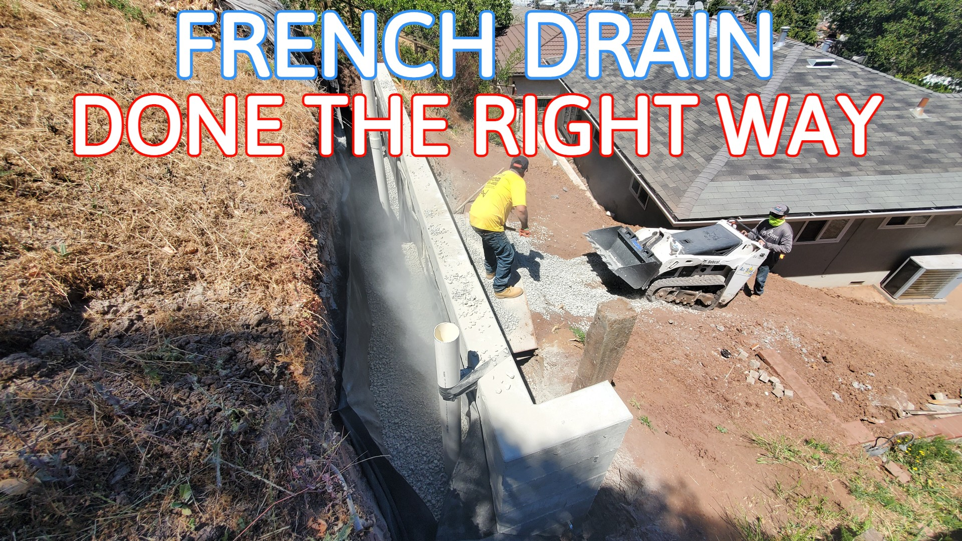 How To Install French Drain concrete wall