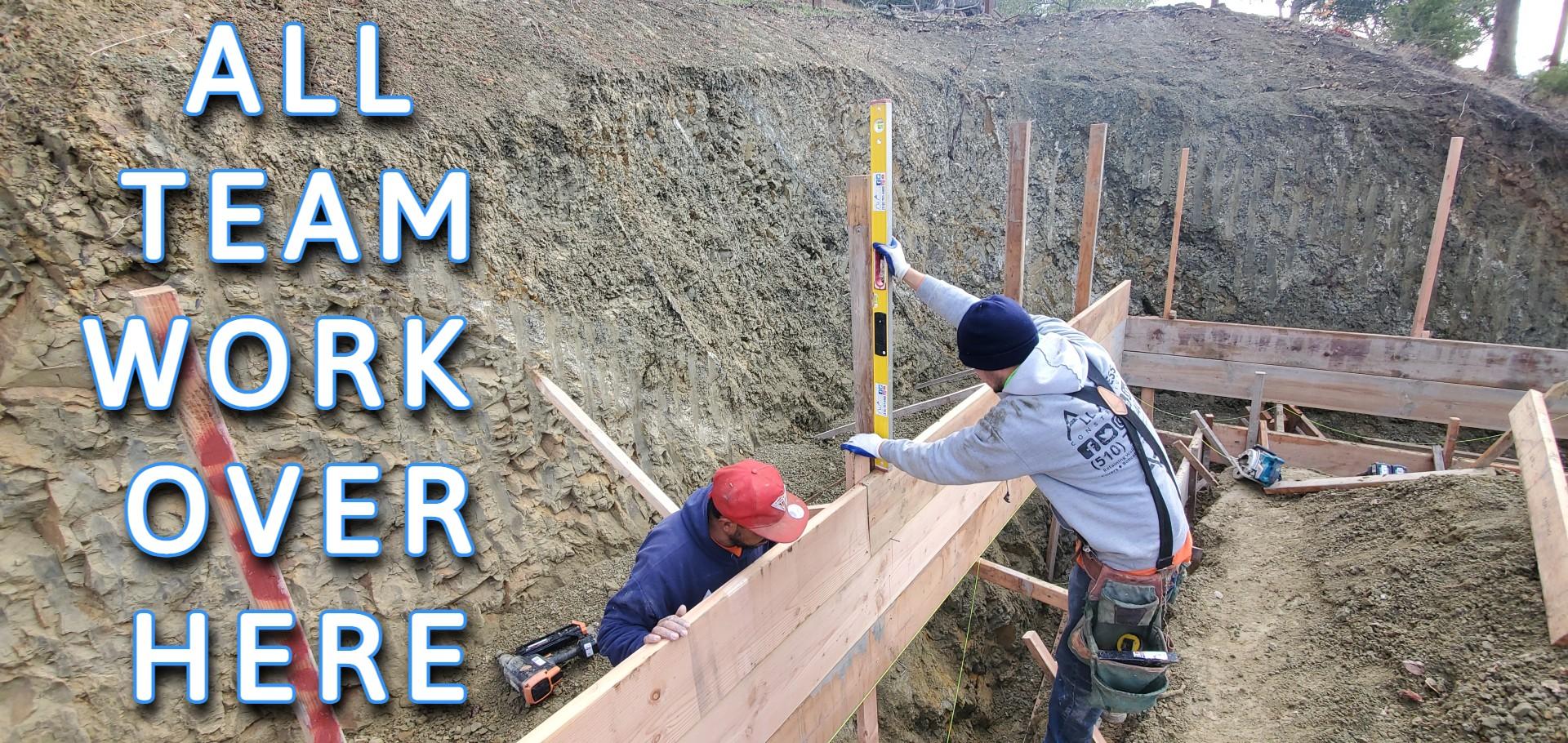 San Francisco Bay Area Retaining Wall