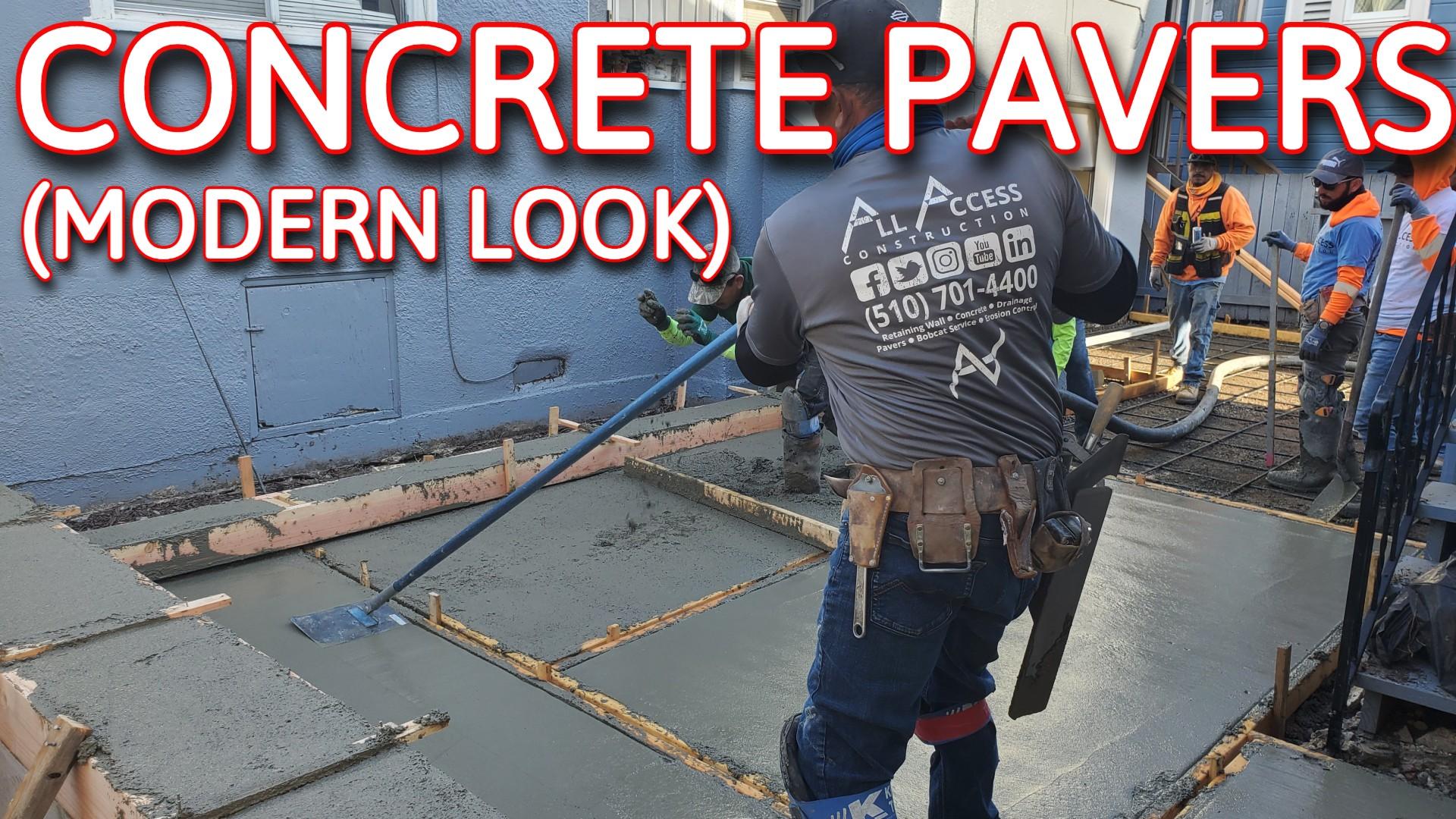 concrete pavers Modern Look
