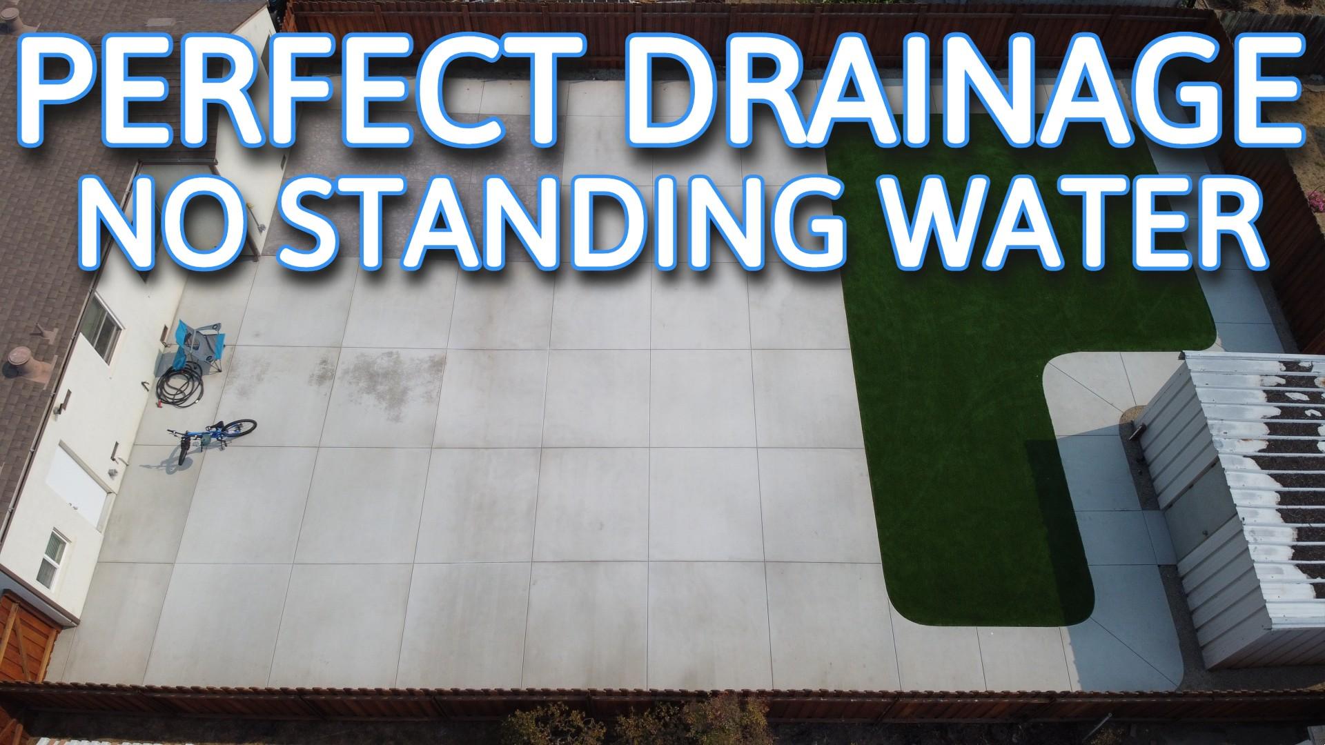 how to set drainage for concrete patio