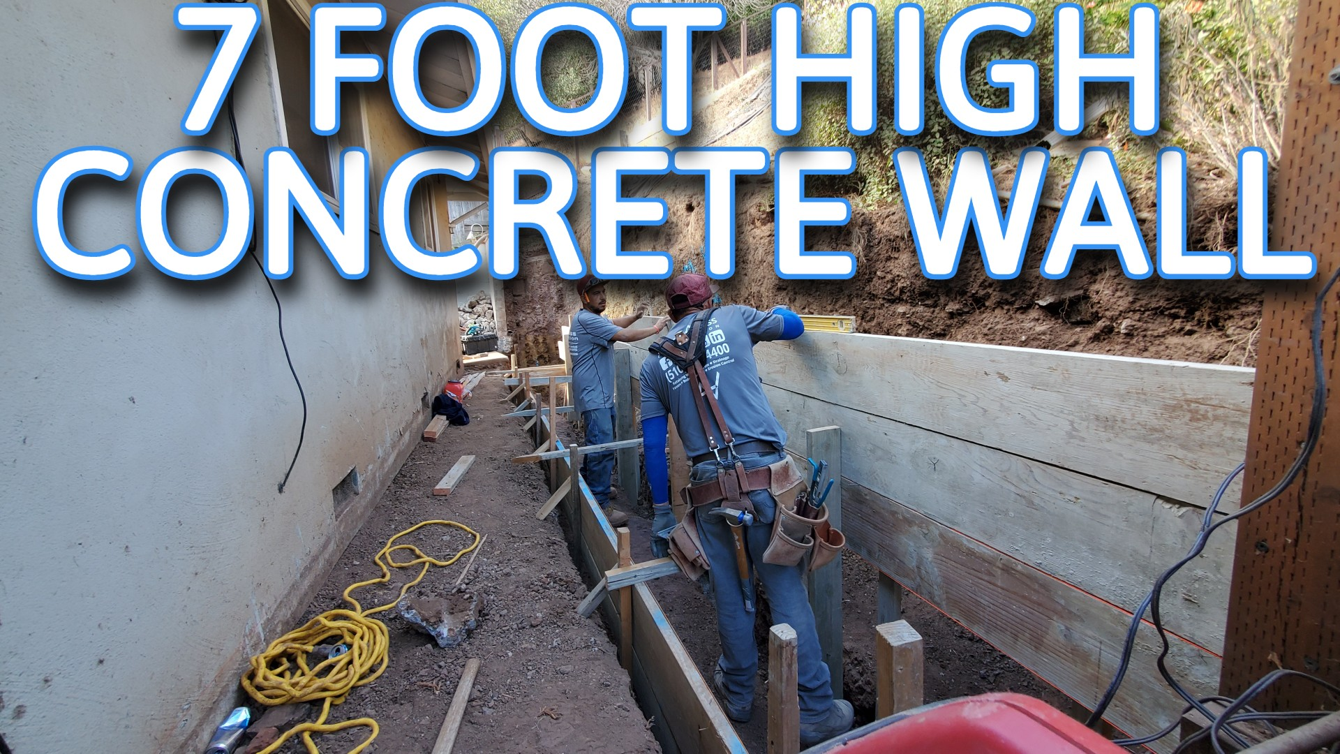 san mateo concrete retaining wall