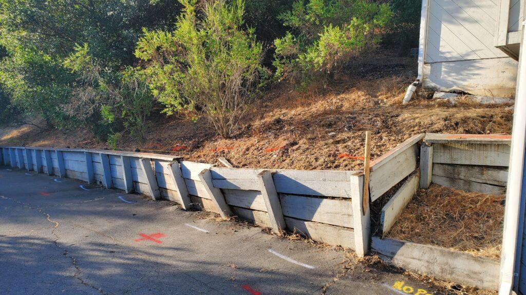 Demo Wood retaining Wall Lafayette