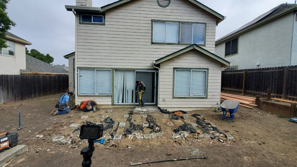 How to demo deck for concrete patio