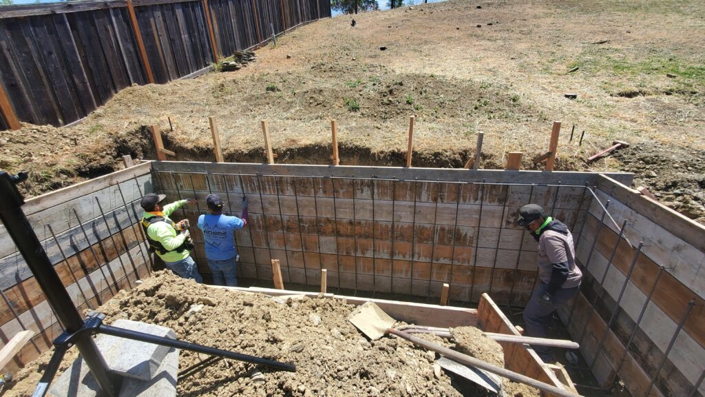 How to build a concrete retaining wall Vallejo