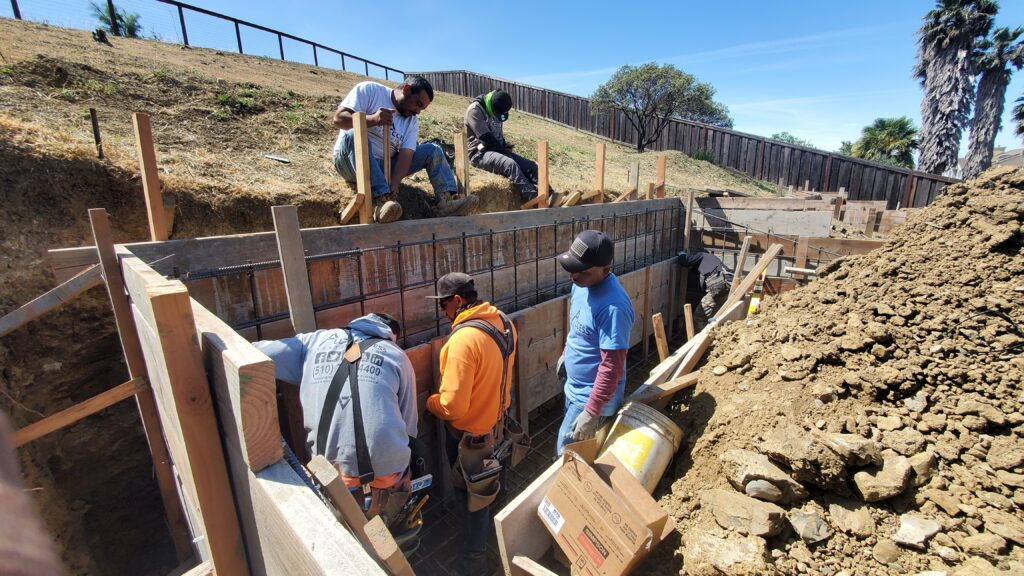 How to frame a retaining wall vallejo