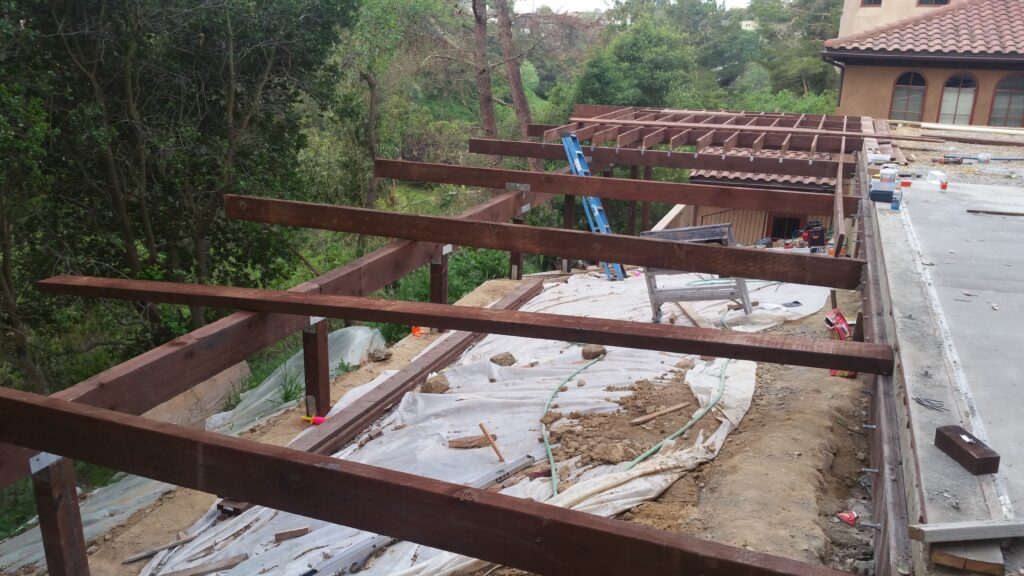 How to install pressured treated beams for deck