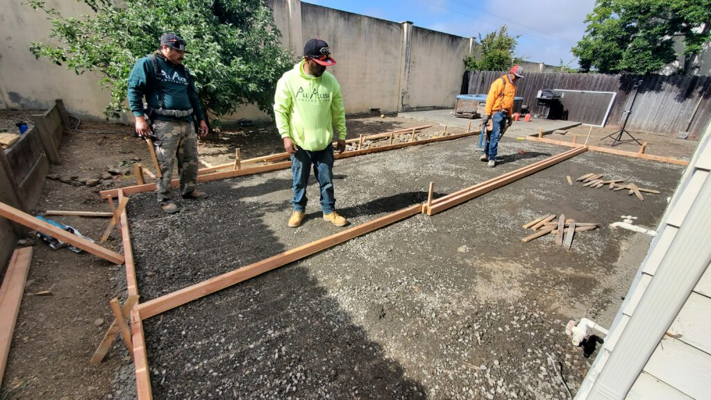 3. How to design concrete patio for backyard Vallej