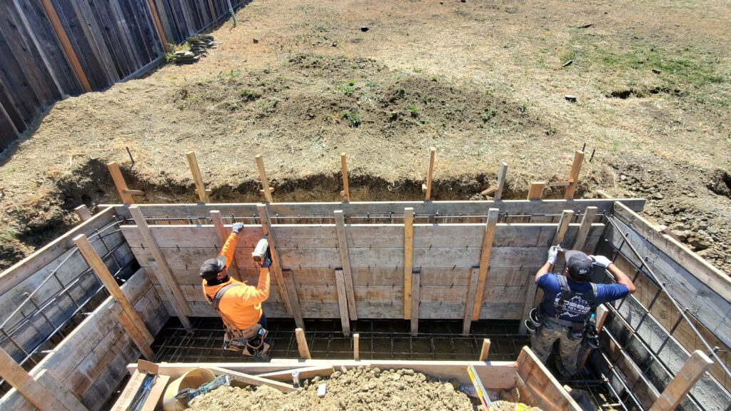 How to frame a concrete retaining wall vallejo
