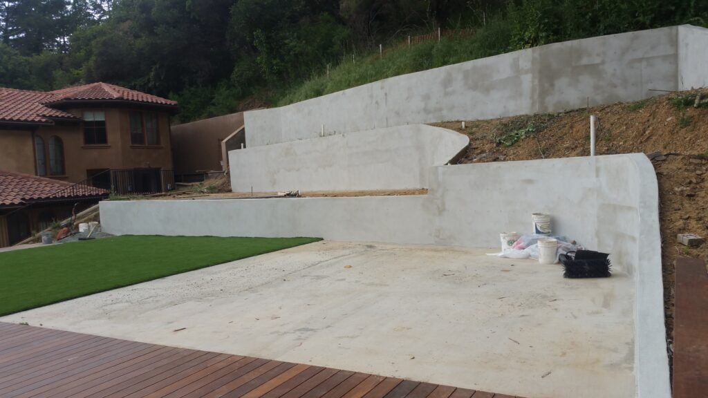 Concrete Retaining wall San Francisco Bay area