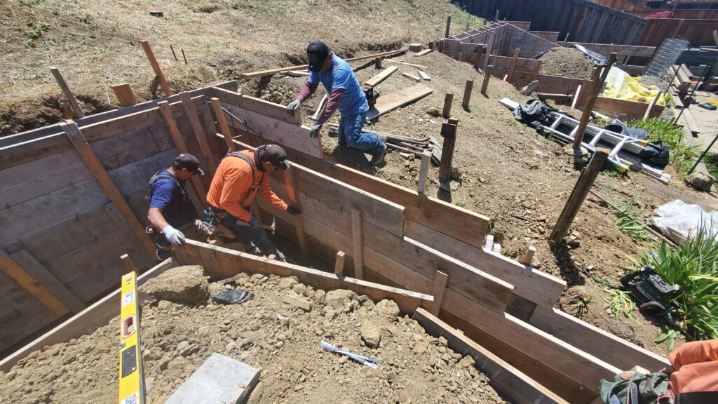 How tall can a concrete retaining wall be Vallejo