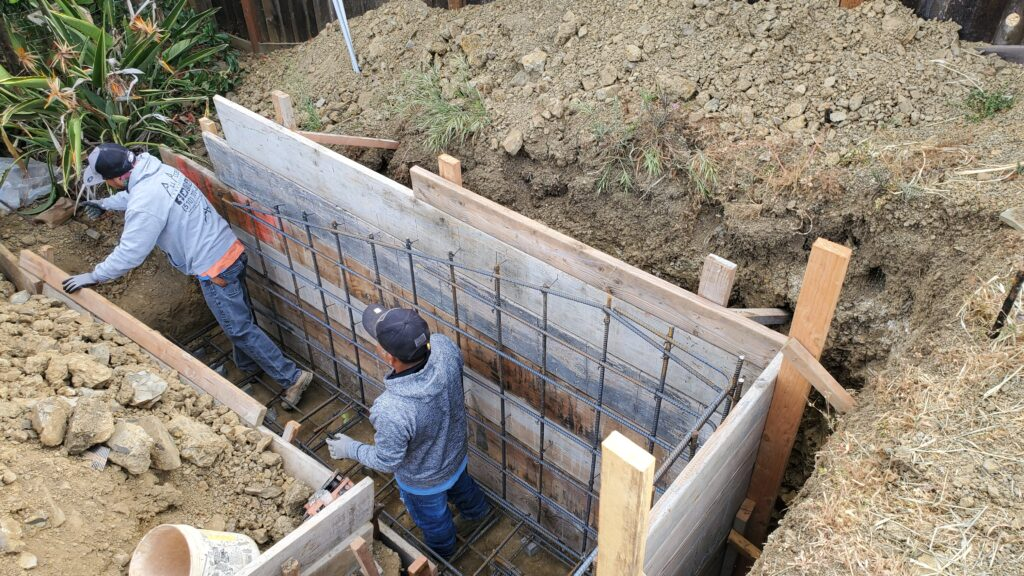 How to install rebar for a retaining wall vallejo