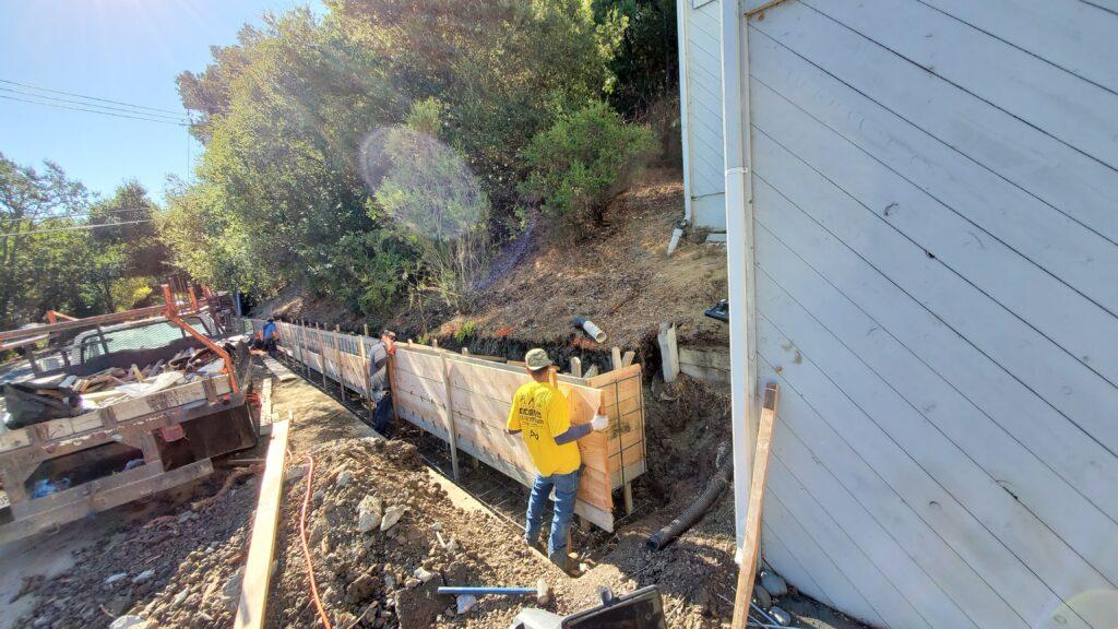 Concrete forms install Bay area
