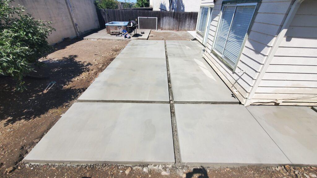 Concrete patio design Vallejo