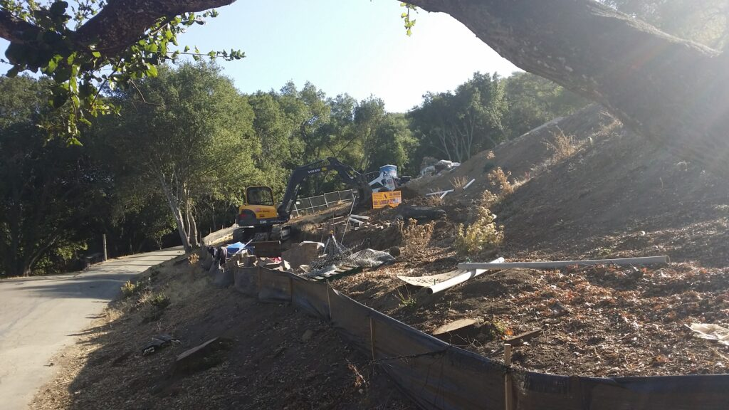 How to build a block retaining wall bay area