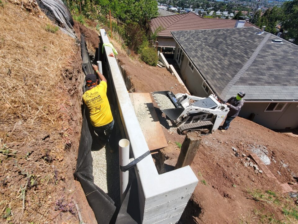 How to install Drainage for concrete wall