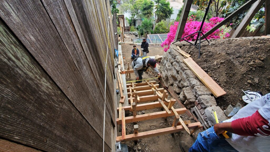how to form concrete stairs San Francisco